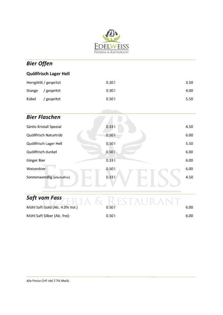 Edelweiss-Pizzeria-Restaurant-Speisekarte-Bier