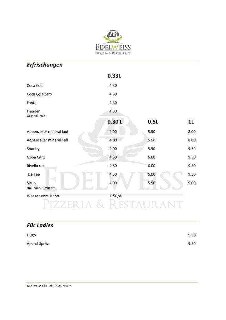 Edelweiss-Pizzeria-Restaurant-Speisekarte-Erfrischungen