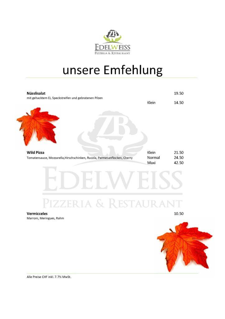 Edelweiss-Pizzeria-Restaurant-Speisekarte-Empfehlung